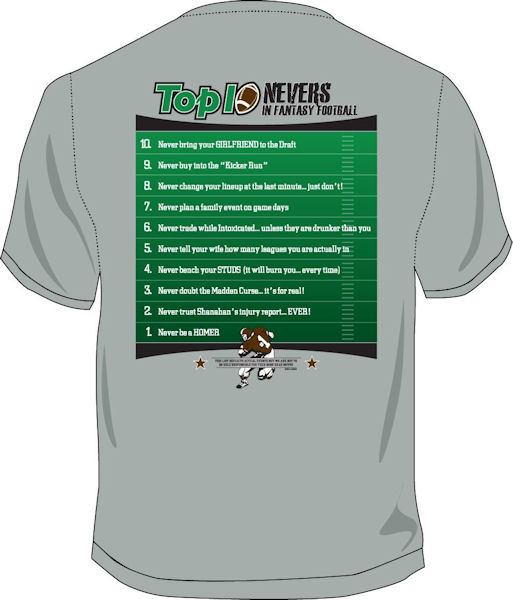 Top Ten Fantasy Football T-Shirt