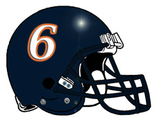 Jay Cutler #6 Chicago Bears Football Helmet