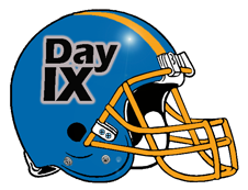 Day 9 IX Fantasy Football Helmet