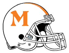 Tennessee Colors Letter M Fantasy Football Helmet Logo
