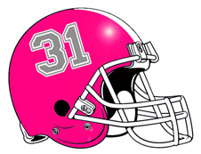 Number 31 Pink Fantasy Football Helmet