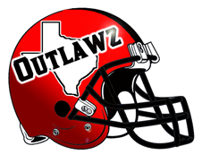 Texas Outlawz Fantasy Football Team Helmet