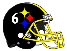 Number 6 Steeler Helmet Fantasy Football Logo
