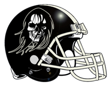 Death Fantasy Football Helmet