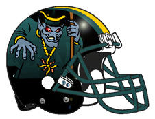 Zombie Wizard Fantasy Football Helmet