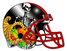 Skeleton Cornucopia Fantasy Football Helmet
