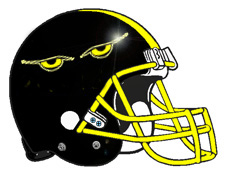 Monster Glowing Eyes Football Helmet Helmet