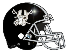 Raiders Skull Fantasy Football Helmet