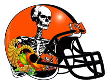 Halloween Skeleton Fantasy Football Helmet