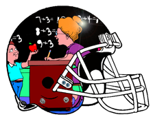 Teacher with Apple Fantasy Football Logo