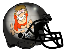 Crazy Person Fantasy Football Helmet