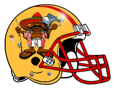 Fish Taco Comedores Fantasy Football Helmet