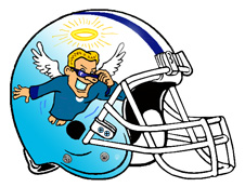 Halo Flying Angel Fantasy Football Helmet