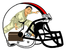 Karate Chop Fantasy Football Helmet Logo