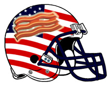 American Bacon Fantasy Football Helmet