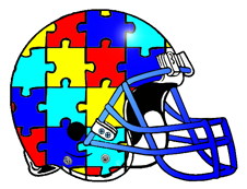 Support Autism Fantasy Football Helmet