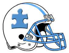 Autism Speaks Logo Fantasy Football Helmet