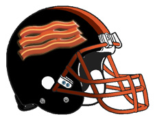 Bacon Football Helmet Fantasy Logo