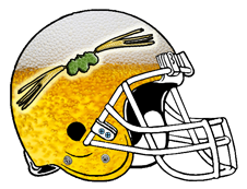 Beer Barley Hops Fantasy Football Helmet