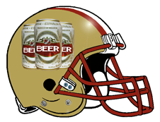 Beer Logo Fantasy Football Team Helmet