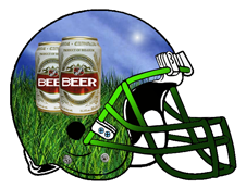 Beer Cans Fantasy Football Helmet