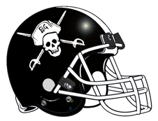 Jolly Roger Football Helmet