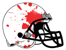 Blood Splatter Fantasy Football Helmet