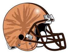 Brown Eye Fantasy Football Helmet