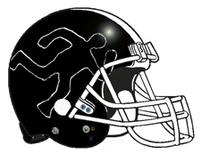 Chalk Outline Fantasy Football Team Logo