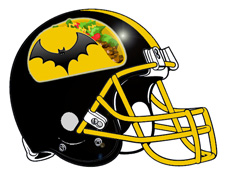 Chalupa Batman Fantasy Football Helmet Logo