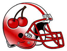Cherries Fantasy Football Helmet Logo