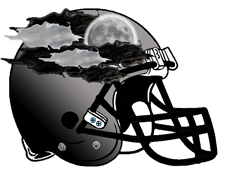 Storm Cloud Fantasy Football Helmet