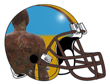 Crosby Beach Ironmen Fantasy Football Helmet Logo