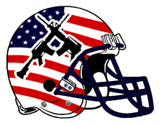 American Flag Crossed Rifles Fantasy Football