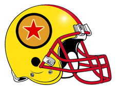 Dragon Ball Z Red Star Fantasy Football Helmet