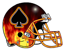 Fire Ace of Spades Fantasy Football Helmet