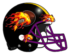 Flaming Football Fantasy Helmet Team Logo
