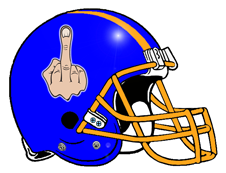 Flip Off Middle Finger Fantasy Football Helmet