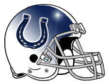 Indianapolis Colts Horseshoe Lucky Fantasy Football Helmet Logo