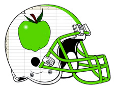 Green Apple Spreadsheet Free Fantasy Football Logo