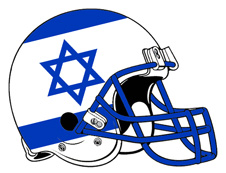 Custom Israeli Flag Football Helmet