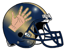 Left Hand Football Helmet Team Logo