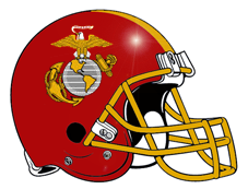 Eagle Globe & Anchor Marine Corps Fantasy Football Helmet