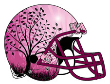 Purple Helmet Tree Artwork Logo Fantasy Football