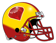 Red Ruby Fantasy Football Helmet