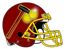 Ball Busters Sledgehammer Fantasy Football Helmet