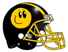 Grinning Smiley Face Logo Fantasy Football Helmet
