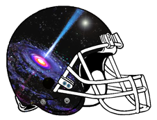 Space Black Hole Fantasy Football Helmet