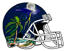 Tropical Storm Fantasy Football Helmet