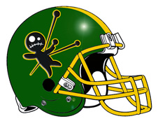 Voodoo Doll Fantasy Football Helmet